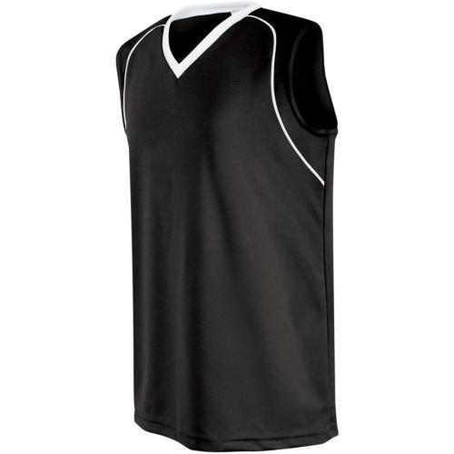Moisture Management Jersey - Women's/Girls Athletic Sports Jersey Moisture Management, Rib-Knit V-Neck Sleeveless Shirt (Uniform Softball, Soccer, Volleyball)