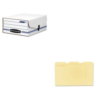 Binder Pak Storage File - KITFEL48110UNV12113 - Value Kit - Bankers Box Liberty Binder-Pak Storage Box (FEL48110) and Universal File Folders (UNV12113)