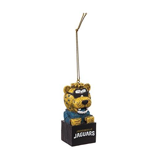 Resin Jacksonville Jaguars Football - Team Sports America Jacksonville Jaguars Team Tiki Totem Mascot Ornament, Set of 2