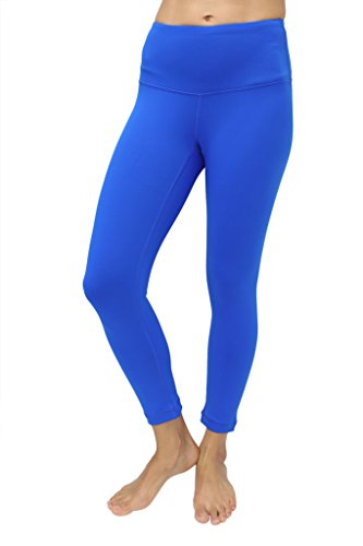 90 Degree By Reflex – High Waist Tummy Control Shapewear – Power Flex Capri -Lightening Blue-S (Blue Power)