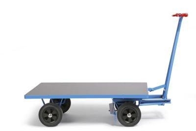 EUROKRAFT Handpritschenwagen - Tragfähigkeit 1000 kg Ladefläche 1250 x 800 mm, Vollgummireifen - Handpritschenwagen Handwagen Pritsche Pritschen Pritschenwagen