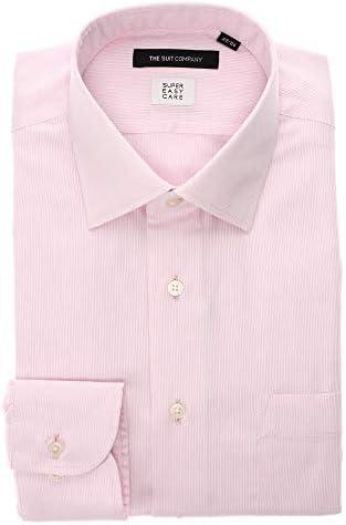 (ザ・スーツカンパニー) SUPER EASY CARE/ワイドカラードレスシャツ 織柄 〔EC・BASIC〕 ピンク