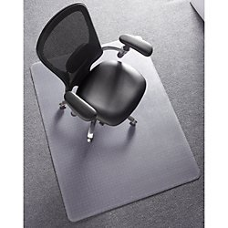 Deflect-O ExecuMat Chair Mat for High Pile Carpets, 36
