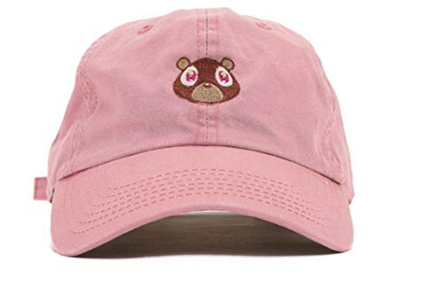 West Bear Cap Peaked Cap Woman Baseball Cap Bear Embroidery Hat Dad Cap Sports Hat for Men Sun Hat Fashion Snapback,Pink Colour,m 56 60cm ()