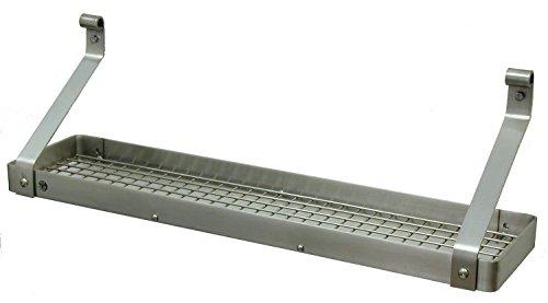 Enclume Premier Bookshelf Wall Pot Rack, Stainless Steel ()