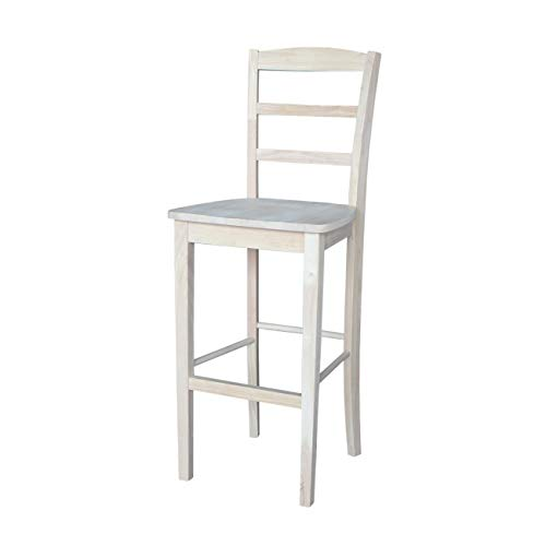 International Concepts S-403 30-Inch Madrid Bar Stool, Unfinished ()