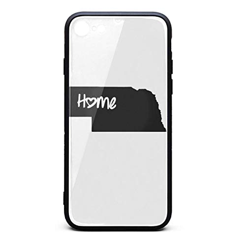Classic iPhone 7 Case Scratch-Resistant Nebraska Map Home Love Protector iPhone 8 Cases Basic IPhone7/8 Covers]()