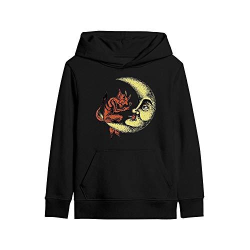 MHGTY Kids Pullover Hoodies Black Cute Pan's-Labyrinth-(19)- Style Sweatshirt Breathable 3D Print Pocket Hoodie