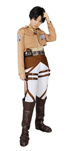 MILICA BOOKS Attack on Titan Training Corps Eren Yeager Cosplay Costume-Size (Costumes Based On Books)