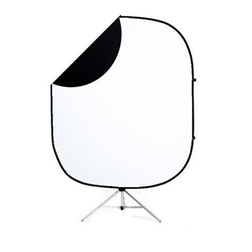 60'' x 72'' Collapsible Illuminator Background - Black/White by Savage