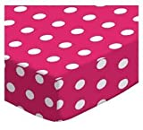 made in the usa sheets - SheetWorld Fitted Pack N Play (Graco Square Playard) Sheet - Polka Dots Hot Pink - Made In USA