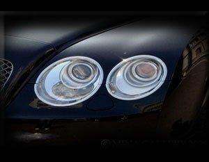 (Mina Gallery Headlight Chrome Finisher Set for Bentley Flying Spur 2003-2009 models)