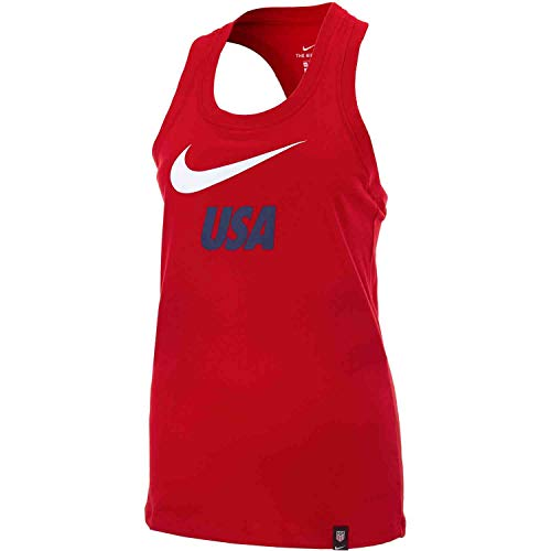 (Nike USA 2019-20 Graphic Women's Tank Top - Red M )