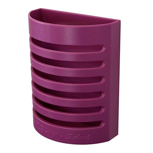 Tools for School Magnetic Pen and Pencil Holder for Locker, Kitchen and Office (Magenta)