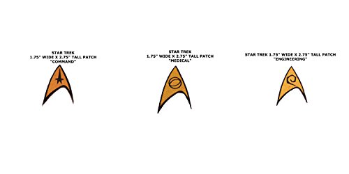 Sci-fi Star Trek Medical, Command, & Engineering 3-Pack Iron or Sew-on (Engineering Family Halloween)