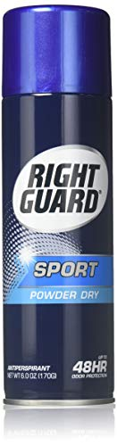 Right Guard Aerosol Sport Powder Dry Antiperspirant, 6 oz (Pack of 6) ()