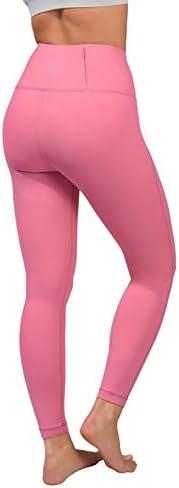 90 Degree By Reflex Squat Proof Tummy Control 7/8 Length Leggings with Back Zipper Pocket