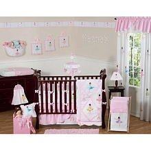 Sweet Jojo Designs 9-Piece Ballet Dancer Ballerina Pink and white Baby Girl Bedding Crib Set