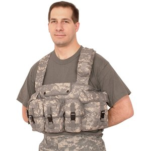 Ultimate Arms Gear ACU Army Digital Camo Camouflage Tactical 7 Pocket Pouch Chest Rig Combat (Acu Chest Rigs)