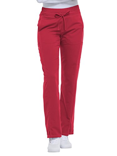 (Dickies Dynamix Women's Drawstring Cargo Scrub Pant Large Red)