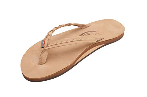 Rainbow Sandals Women's Flirty Braidy Sierra Brown Sandal Ladies Large (7.5-8.5 Women US)