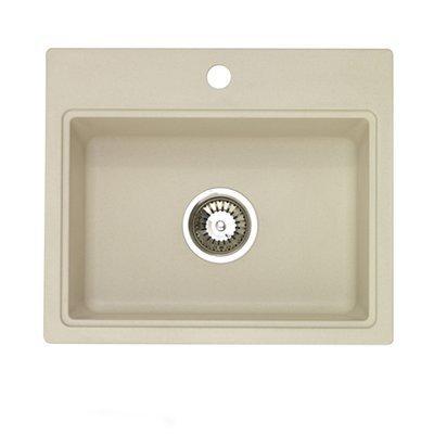 Jacuzzi AS-AQ10RHUSSK Sahara Stone Astracast Astracast Dual Mount Granite 3-Hole Bar Sink