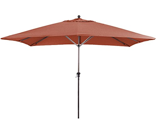 Ben&Jonah Eclipse Collection 11'X8' Rectangular Aluminum Market Umbrella Bronze/Sunbrella/Terracotta
