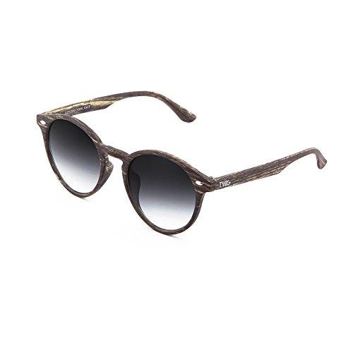 FLAUBERT Negro sol madera Oak de redondo Gafas Degradado TWIG hombre estilo mujer tOBwxvq