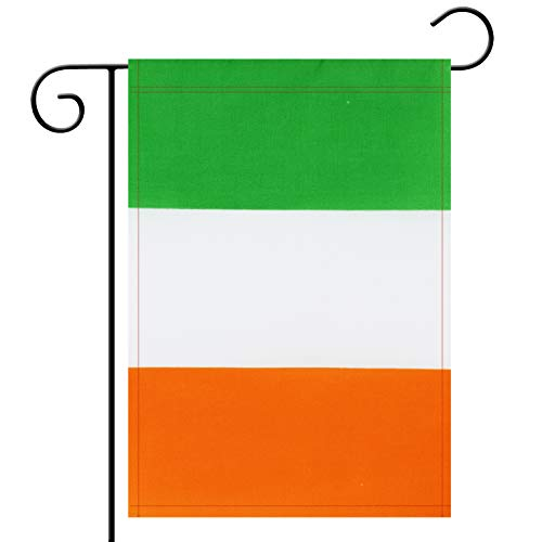 Garden Flag Ireland Irish Garden Flag,Garden Decoration Flag,Indoor and Outdoor Flags,Celebration Parade Flags,Anniversary Celebration, National Day,Double-Sided. -
