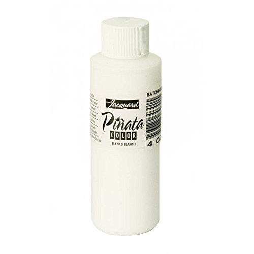 (Pinata Blanco Blanco Alcohol Ink That by Jacquard, Professional and Versatile Ink That Produces Color-Saturated and Acid-Free Results, 4 Fluid Ounces, Made in The USA)