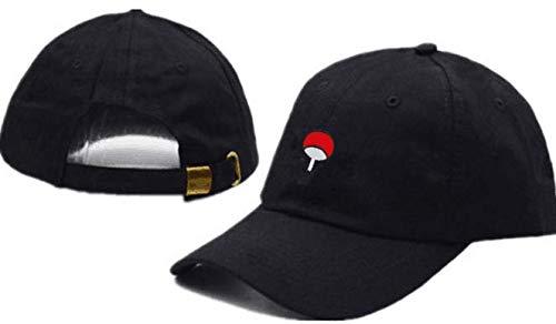Dxsmvxzy Anime amantes Naruto papa sombrero Uchiha familia Logo 100% algodon bordado beisbol gorras negro