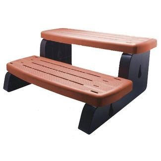 Waterway Plastics 535-2209-RDW Spa Wall Step Assembly Built with 2 Steps, Redwood Redwood Steps
