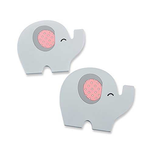 - Kate Aspen 17068PK Little Peanut Elephant Coaster - Pink (Set of 2)