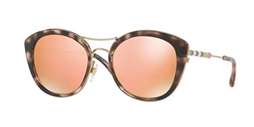 Burberry Women's 0BE4251Q Pink Havana/Brown Mirror Rose Gold One - Pink Burberry Rose