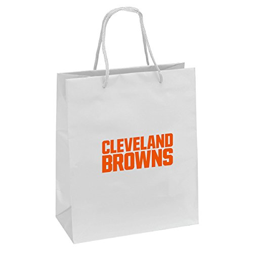Pro Specialties Group NFL Cleveland Browns Gift Bag, White/Brown, One - Bag Specialties Pro
