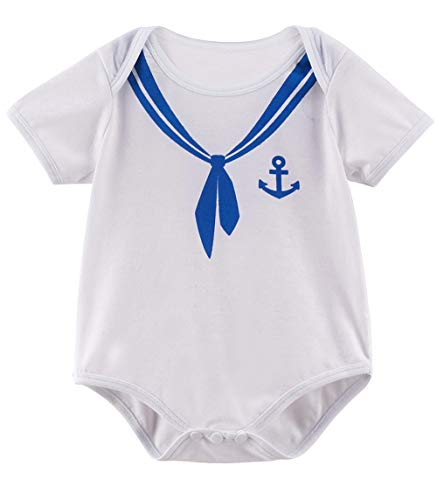 COSLAND Baby Boys' Halloween Costume Sailor Bodysuit (Sailor, 3-6 -