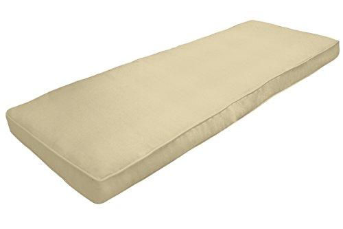 Amazon Custom Furnishings x Easy Way Products 20678 Custom Zipped Double Piped Bench Cushion, 44