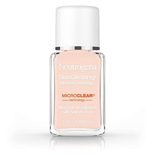 Neutrogena Skinclearing Makeup, 20 Natural Ivory, 1 Fl. Oz. (Best Makeup Base For Sensitive Skin)