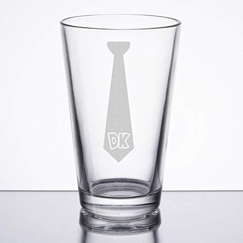 Donkey Kong - DK Tie - Etched Pint Glass (Nes Tie)