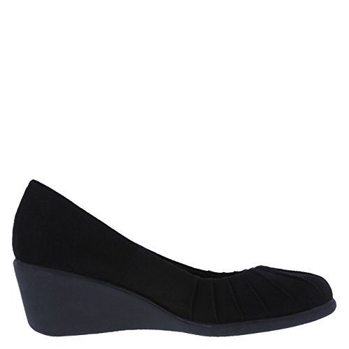 Image of dexflex Comfort Women's Black Women's Bristol Pleated Wedge 8.5 Regular
