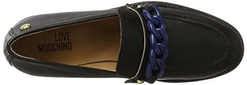 Love Moschino W.Shoe, Mocasines para Mujer Multicolor (Black/blue)