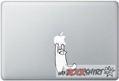 Simon's Cat - Aufkleber für MacBook
