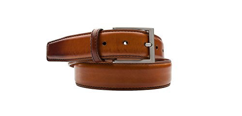 Magnanni Men's Belt Hand Burnished Calf Leather 1078 Cognac