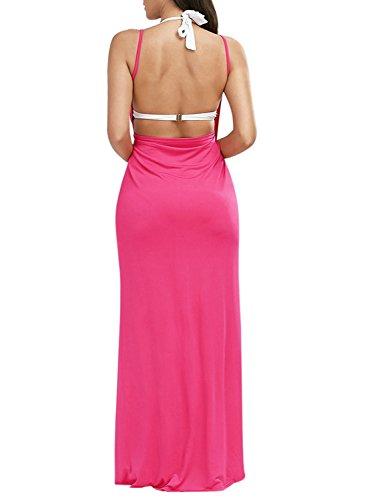 Bikini Coprire Costume Clothink Di Della Rosa Cinghia Bagno Scollato Spiaggia Spaghetti Di Avvolgere Donne Vestito Da Pnq6Cn