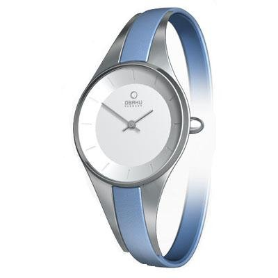 Obaku Harmony Womens Watch - Blue Band / White Face - V110LCIRLS-052