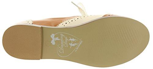 Dancing Days - Zapatos de cordones de Material Sintético para mujer Tan-Cream