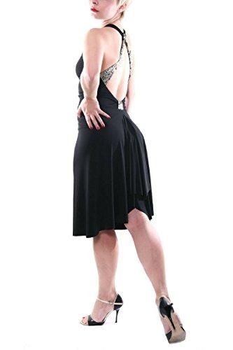 783da96a8c89 condiva. Tango Dress, Black Argentine Tango Dance Outfit, Milonga Dress (M)