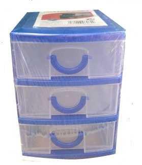 Cassettiere In Plastica Per Ufficio.Cassettiera In Plastica Porta Minuteria Con 3 Cassetti 13 X 11 X 9
