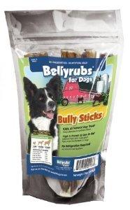 Bellyrubs Organic 6-Inch Bully Stick Dog Treat, 4-Piece