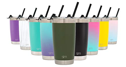 Simple Modern 20oz Cruiser Tumbler with Straw & Closing Lid Travel Mug - Double Wall Vacuum Insulated - 18/8 Stainless Steel Thermos -Pine